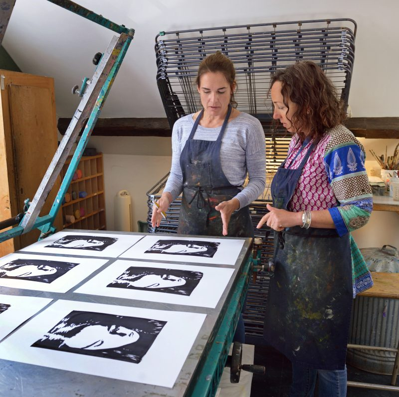 Two Print Workshop members