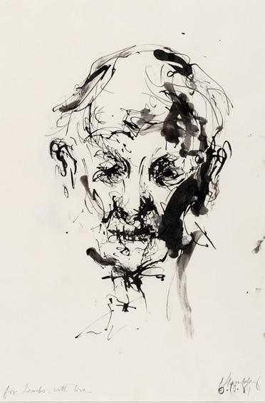 Maggi Hambling, Portrait of my Father, Ink