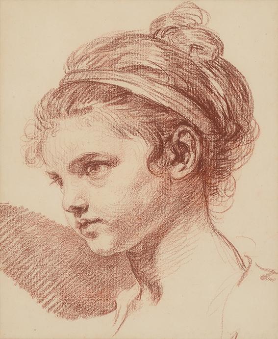 Jean-Baptiste Greuze: Tete de Jeune Fille